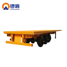 Luoxiang trailer 3 Axle 40FT Flatbed Container Semi Trailer for sale