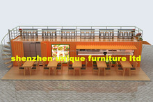 Customized 40 feet container kiosk , container mobile fast food shop