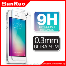 tempered glass screen protector for iphone 5s, for cell phone screen protector IPHONE5S