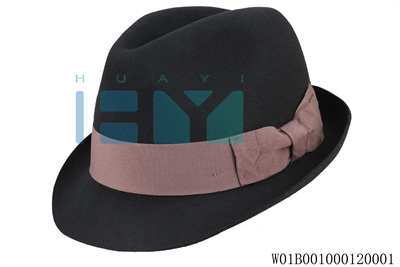 New design make custom fashion men black trilby fedora hat