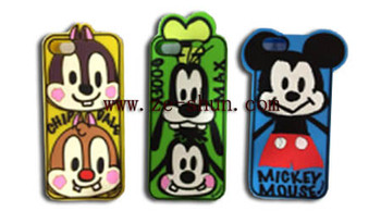 for iphone 5/5s Silicone Case cartoon style