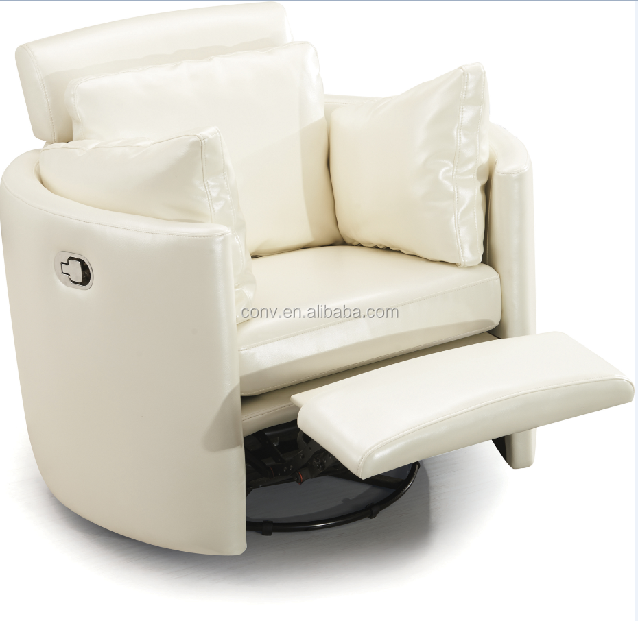 living room modern round rocking reclining chair with footrest buy