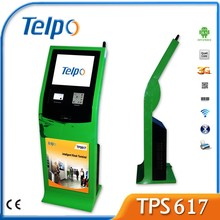 Telpo TPS617 17 inch fast food ordering self service payment kiosk machine with 1D/2D barcode and SIM slot