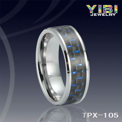 tungsten and titanium mens rings baseball jewelry for men black Carbon Fiber Tungsten Ring
