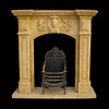 Home decoration indoor used marble fireplace mantel