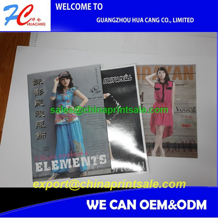 Custom design promotional business cheap new printing fashion magazine