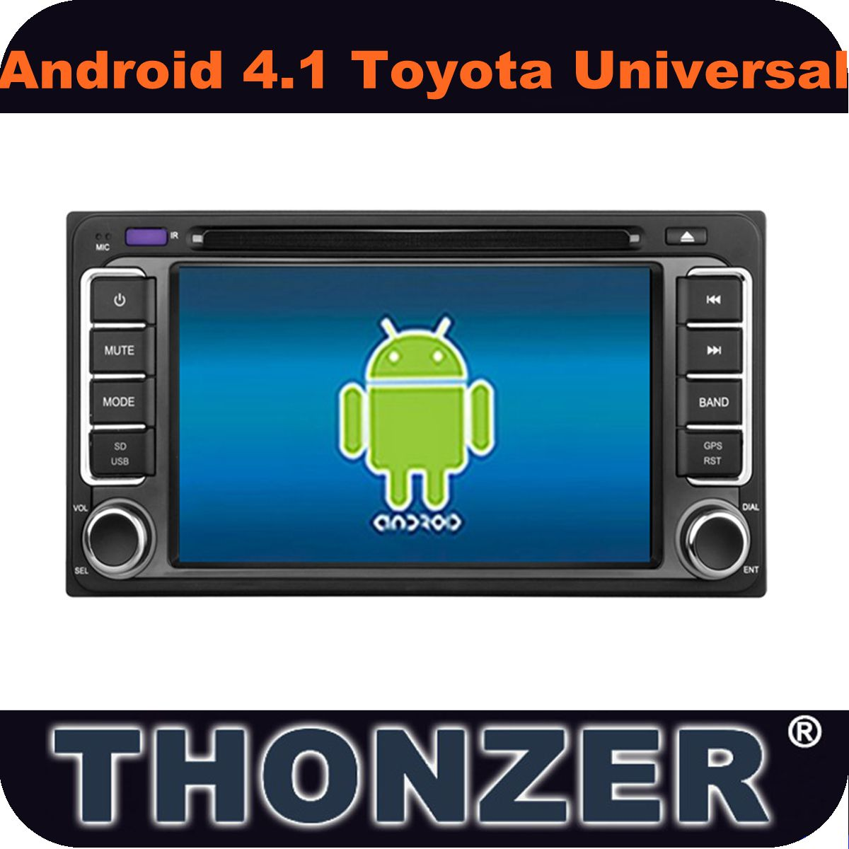 Pure Android 4.1 Car PC Toyota Universal Car DVD+GPS+Wifi+Bluetooth+Dual core +1GB CPU+DDR3 1GB +8GB Flash