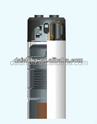 Air to water bathroom water heater Home all in one heat pump air heating system R134a/150L~300L,CE,EN16147,EN255
