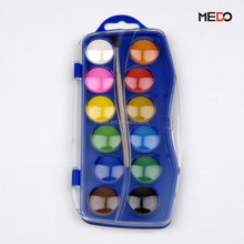 12 colors non-toxic cheap solid watercolor