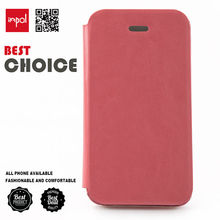 custom made PU leather slim fit flip mobile phone cover case for iphone 4