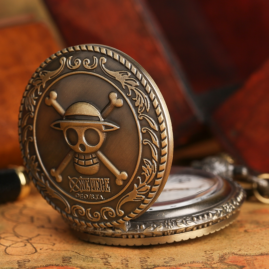 Men's Japan Cartoon Anime One Piece Pocket Watch Fashion Men Women Necklace Chain Vintage Steampunk Fob Watch Drop Free Shipping 2017 2018 Best Gifts (5)