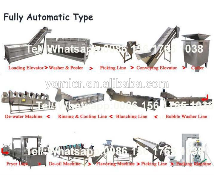 Hot Sale Sweet Potato Chips Making Machine/Frozen French Fries Processing Line/Potato Chips Manufacturer