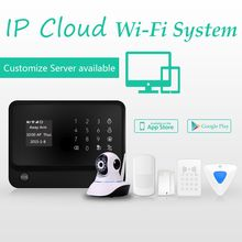 Wireless GSM plus WIFI alarm system & home burglar alarm support with IP camera to view