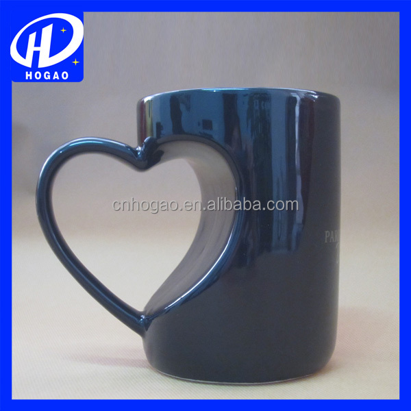 2016 hot sale heart shape ceramic mug