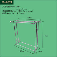 metal hanging clothes for kids display stand