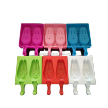 Bunny Shape Ice Cream Stick Silicone Popsicle Mold Silicone Ice Cream Mold