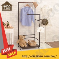 Laundry Products special design double pole black clothes rack stand