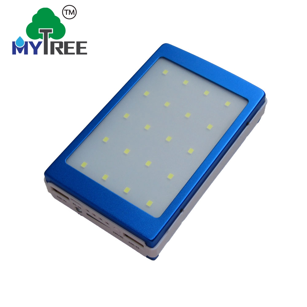 Mytree Dual Usb Ports 12v 16v 19v 20000mah Power Bank Portable Mobile Laptop Solar Battery Charger With Camp Lamp