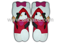 Cute Character Flip Flop - Kitty Red White