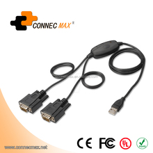 2 Port Professional USB to Serial Adapter with TX/RX LED and COM Retention FTDI Chip and Fast 920K Per Port Transfer Speed