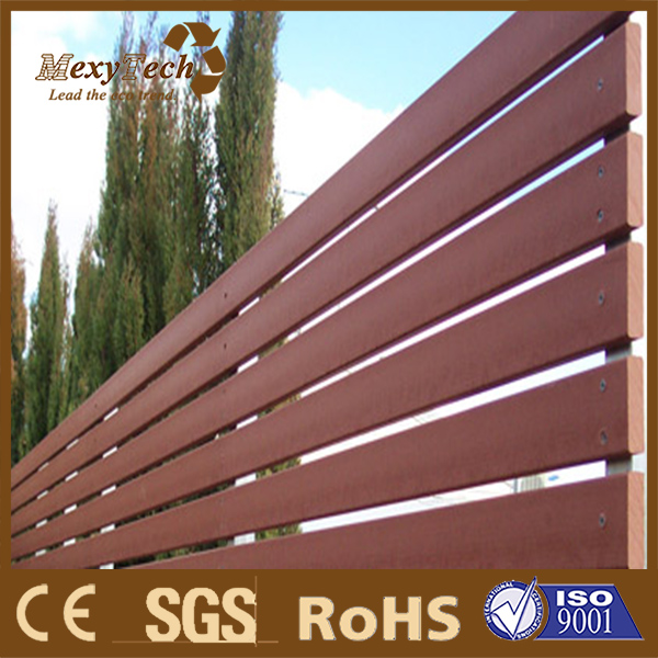 guangzhou wood plasitc laminated outdoor garden fencing / wpc fence trellis
