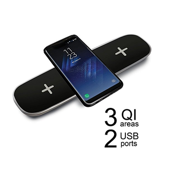 3 in 1 QI Wireless Charger Charging Pad for iPhone x 8 8plus S8 S8plus S7 S7 Edge 5 S6 Edge Plus