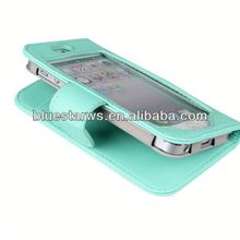 2014 new design for iphone 5 leather case stylish colorful leather case for iphone5