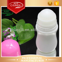 50ml cosmetic roll on plasti roll on deodorant container for body care, roll-on perfume bottle,cosmetic deodorant container