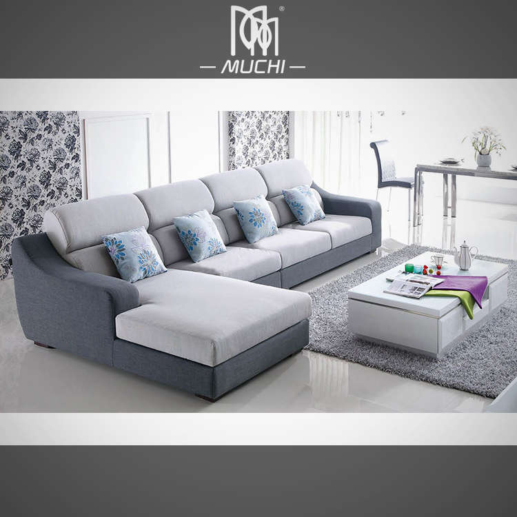 Foshan low price furniture set low seater modern l shaped for Home furniture online at low price