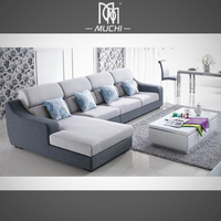 Foshan Low Price Furniture Set Low seater Modern Style Upholstery Fabric Sofa