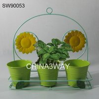 galvanized garden flower foam frog water pot for sale