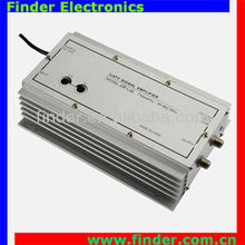 1x2 40dB CATV Amplifier with Gain & Equalizer Adjustment - Indoor TV Signal distribution Amplifier