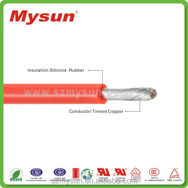 heat resistant tinned copper stranded conductor silicone rubber building materials wire