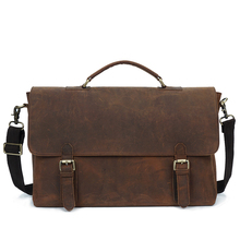YD-009A Wholesale vintage style genuine Italian leather laptop messenger bags for mens