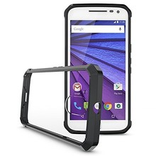 Crystal strong pc layer tpu bumper cell phone cover case for MOTO E4