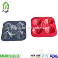 Silicone 10-cup Diamon d Shape Ice Cube Tray