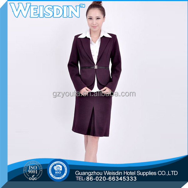anti-shrink hot sale polyester/cotton ladies office suit styles