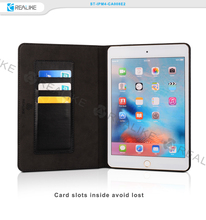 9.7 inch genuine leather tablet pc stand case for ipad 6