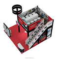 Detian Display factory provide customized expo stands, modular double deck exhibition stand system