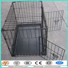 factory supply black 48'' metal pet carrier for dog cat rabbit