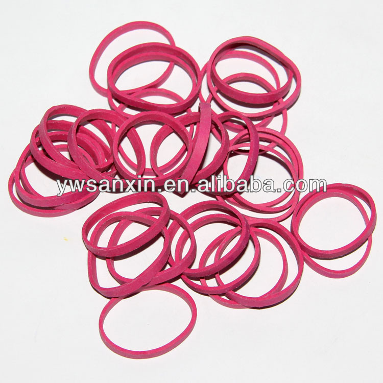 Rose color rubber band for packing
