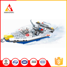 Hot item top quality cheap educational building block plastic toy boats