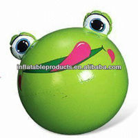 funny pvc inflatable beach ball/funny forg beach ball