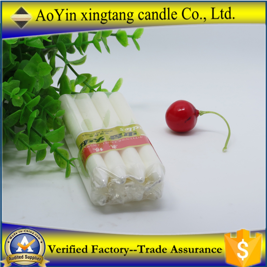 Wholesale cheap price candles white household wax candles