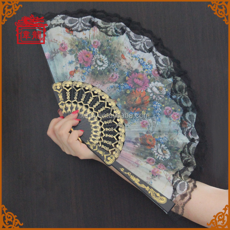 Wedding Giveaway Gift Plastic Spanish Folding Hand Fan GYS901-4