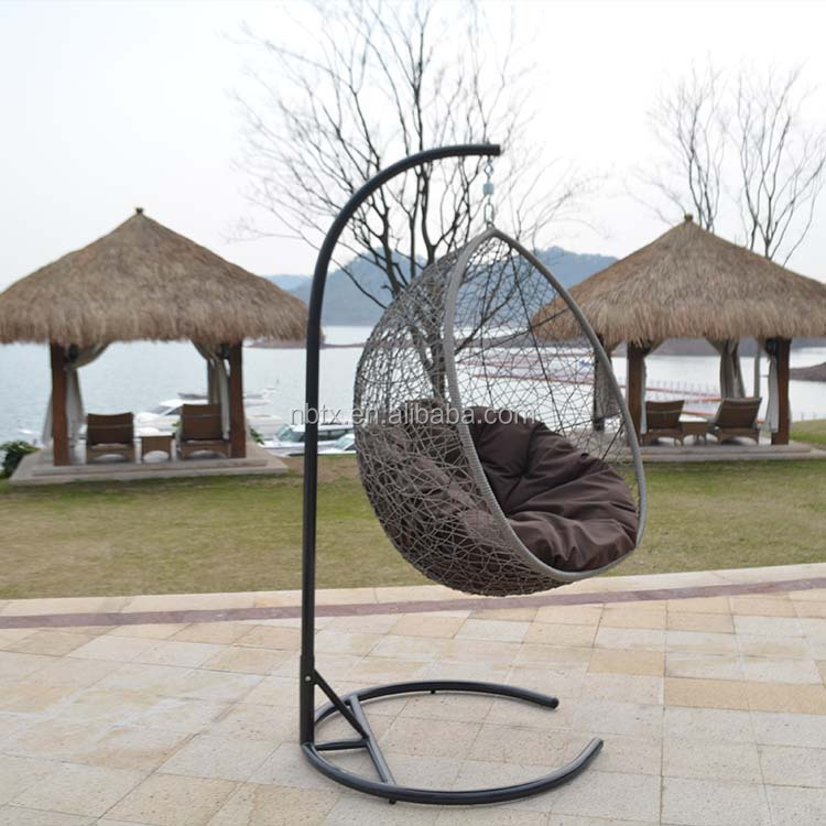 High quality swing rattan round outdoor furniture