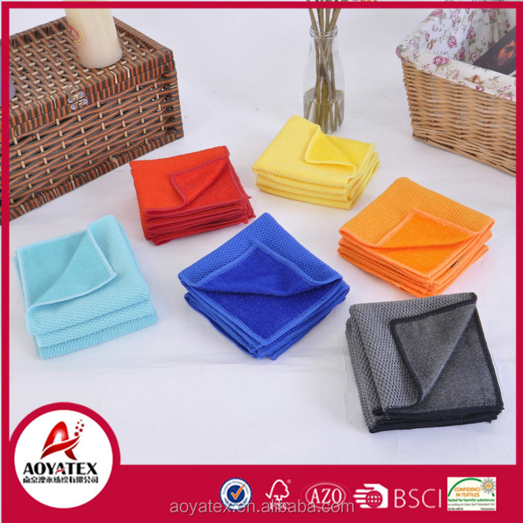 Factory direct sale multipurpose 100% polyester microfiber kitchen cleaning cloth