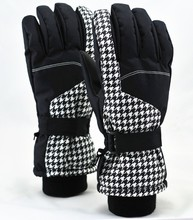 Knit cuff thinsulate women winter ski gloves