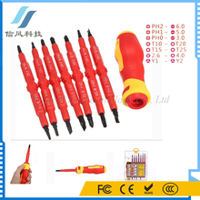 7Pcs / Set Insulated Electrical Double Head Hand Screwdriver Tools With Plastic Storage Box