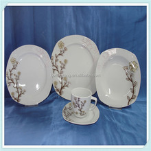 new high quality lead free stoneware unbreakable square dinnerware